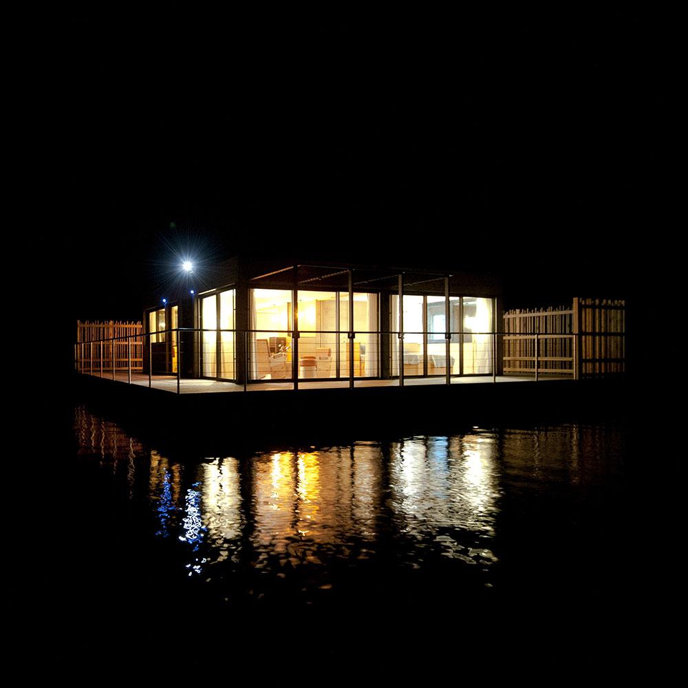 habitat flottant nuit